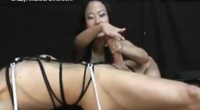 Asian Femdom Babes, KiDia Li And Kitana Lain Are Having A Fun Threesome On The Sofa