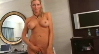 Emma Gold Is Gently Sucking Her Boyfriend's Dick, Because They Like To Have Anal Sex