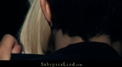 Gagged Blonde Girl Is Deepthroating Just The Way She Likes The Most, Like A Slave