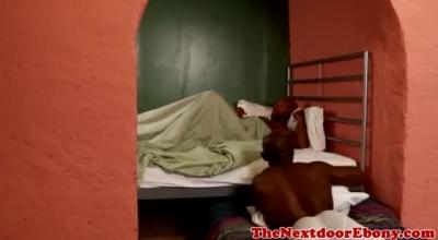 Ebony Stud Wanks Off Bisexual Black Cock