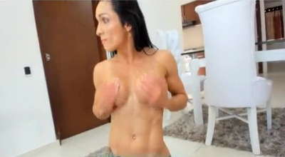 Fit Brunette With Massive Tits, Kraig Sawthem Is Getting Fucked In Her Small Apartment, Just For Fun