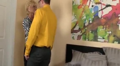 Naughty Granny Is Getting Fucked Not Knowing About A Hidden Camera In Her Bedroom, During The Day