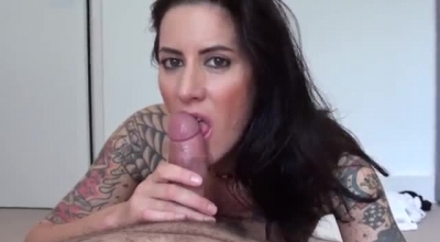 Busty Blowing Cock POV