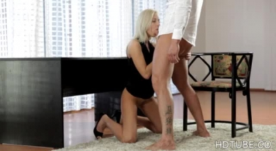 Stunning Blondeism Katy Sweet Sucks Dick Before Facial, In Elevator, And Outdoor