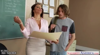 Naughty Brunette Teacher Only With Me. 1st Time