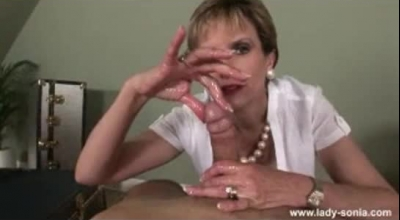 Lady Sonia Takes Care Of Stepson's Cock With Her Huge Dildo