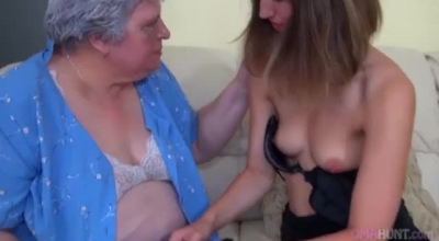 Granny And Teen Double Penetrated Each Other