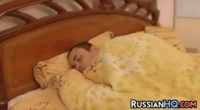 Sexome Russian Blonde Rides Dick With Her Holes.