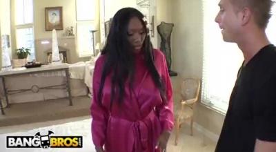 Locked Down Ebony Teen Slut Penetrated Anally