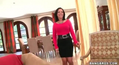 Small Tit MILF Stepmom Share Son With Bff