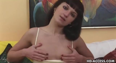 Amateur HD Teen With Glasses At Home Alone