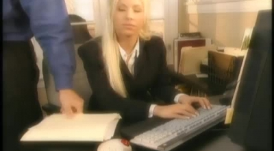 Busty Blonde Secretary, Bree Monroe Is Wearing Her New Uniform And Waiting For Her Cock To Fuck Her.