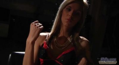 Kinky Blonde Teen, Barbara Is Playing With Her Shaved Slit While No One Else Is At Home.