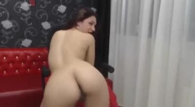 Horny Brunette Auditioning For Porn Casting.