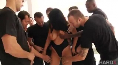 Romi Rain Is Having Rough Anal Sex During A Casual Threesome With Two Horny Guys, In The Porn Studio.