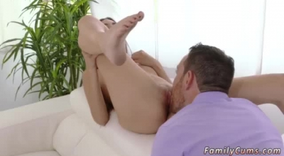 Perverted Teen Brunette, Allie James Likes To Spread Her Legs And Get Her Twat Licked And Drilled.