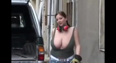 Stunning Hot Woman With Big Boobs Inserting Toys.