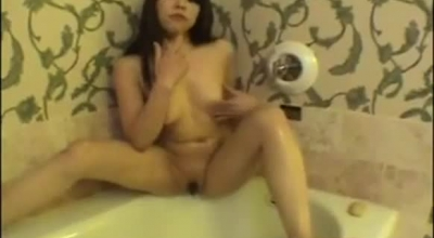 Lusty Slut Likes To Play With Her Tits And With Her Pussy All Day Long.