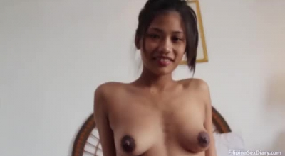 Petite Asian Brunette Likes To Feel Hard One Dick Inside Her Hairy Pussy, Until She Cums.