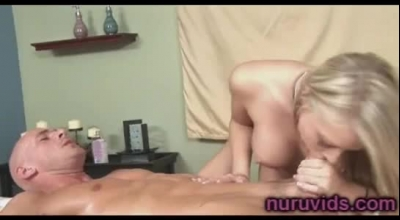 Sexy Blonde Masseuse Tries To Slow Down Any Gym Members Pleasure With A Huge Strap On Cock