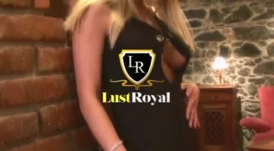 Donna Is A Sexy Blonde Lady Who Can't Hold Back From Short Skirts Even While Home Alone