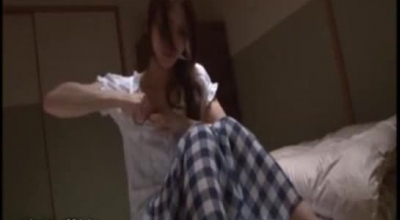 Sensual, Japanese Babe Is Wearing A Strap- On And Fucking Her Submissive Neighbor, Just For Fun. [o]