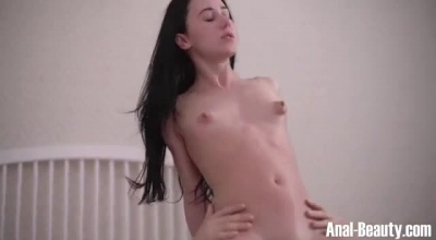 Petite Brunette Is Getting A Horny Husband To Pound Her Brains Out In The Living Room.