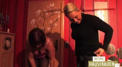 Three Horny Lesbos Having Their Wet Pussies Fucked Deep.