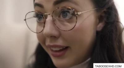 Smashing Brunette With Glasses, Katelynn Strong Is Often Using Her Deep Throat To Make Guys Cum.