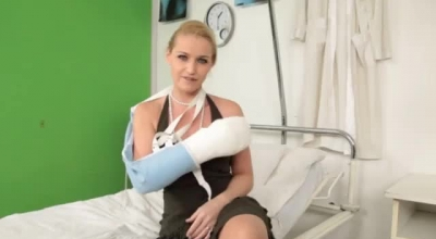 Blonde Nurse With Big Tits, Paige Owens Got Fresh Cumshots All Over Her Cute Face.