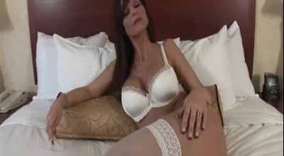 Syren De Mer Likes To Feel A Hard Dick Up Her Tight Ass, Until She Cums.