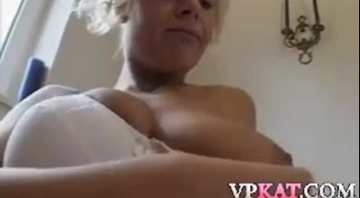 Dirty Granny Was Outdoors When It Came Time For Her To Get Nailed And Creampied
