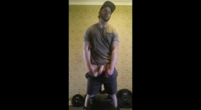 Horny Gay Dude Dps His Cock With Multiple Orgasms And Bondage. MILF Chef.