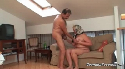 Blonde Granny Is Getting A Hard Cock Up Her Ass And A Hot Creampie In The End.