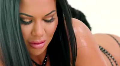 Jasmine Jae Is A Smoking Hot Brunette In White And Black Lingerie, Who Likes To Please Men.