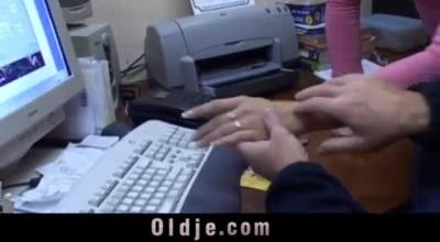 Kinky Older Boy Giving Some Handjob.