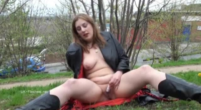 Longhaired MILF Redhead Gets Busy Fucking Her Ravaged Pussy.