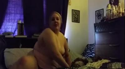 Horny Blond BBW BBW Pornstar Milks Two BBCs