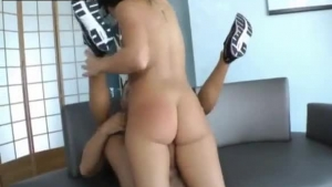 Sweet Transexual Is Doing All Her Lover's Dirty Things At The Same Time