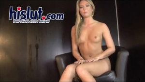 Tanned, Italian Pole Dancer Is Getting Fucked Riding A Dildo In A Relaxed, Lesbian Style Place