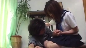 Horny Japanese Teen Gives Head And Gets Fucked