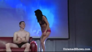 Spex Sexy Stage Girl Milking A Dude