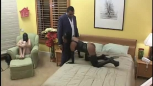 Stud In Threesome Fighting On The Floor