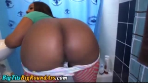 Black Babe Shows Her Double Shaped Ass