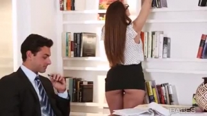 Fresh Secretary Is About To Get Fucked In The Ass Instead Of Doing Her Job