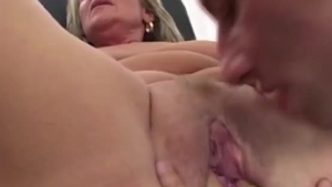 Skinny Milf With Big Boobs Is Giving A Titjob To Her Horny Lover, Before Riding Him