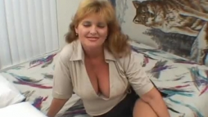 Mature Woman Is Bangable At The Kitchen, While Her Husband Is Out Of Town, And Out Of Town