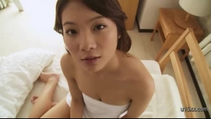 Tsukasa Nakaya Got Her Perfectly Shaved Pussy Filled Up With A Rock Hard Meat Stick
