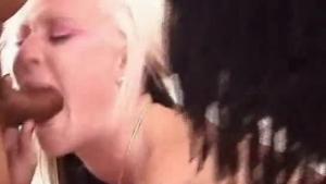 Submissive Blonde Slut With Huge Boobs Is Kneeling On The Floor And Sucking Her Partner's Hard Cock